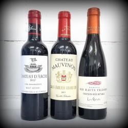 kleine Flaschen, Wein, 3er-Set, FRANKREICH rot, 3x0.375l