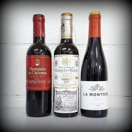 kleine Flaschen, Wein, 3er-Set, SPANIEN Rioja, 3x0.375l