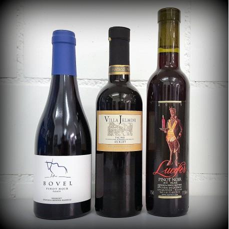 kleine Flaschen, Wein, 3er-Set, SCHWEIZ Rotwein, 3x0.375l