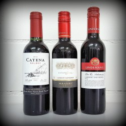 kleine Flaschen, Wein, 3er-Set, SÜDHALBKUGEL Rotwein, 3x0.375l