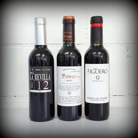 kleine Flaschen, Wein, 3er-Set, SPANIEN Ribera del Duero, 3x0.375l